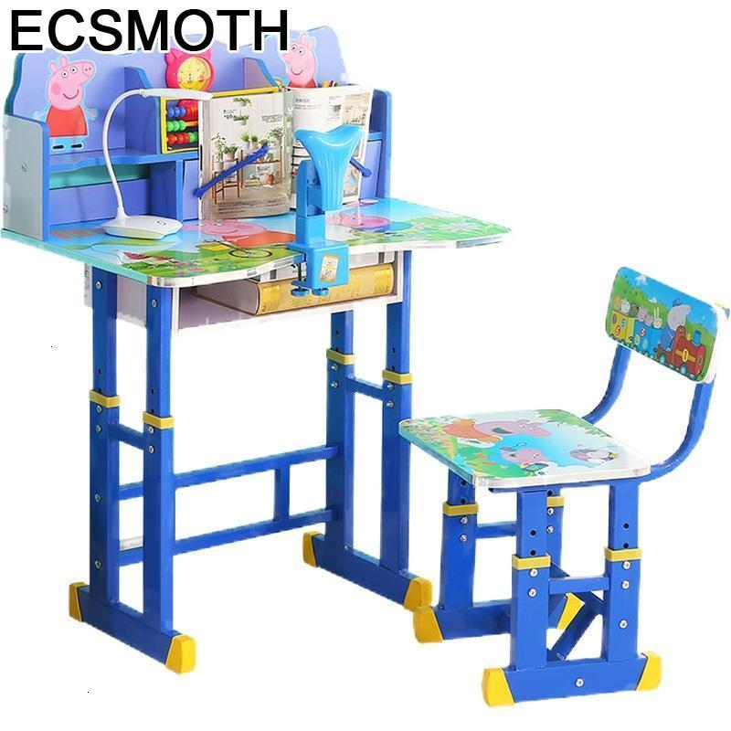 And Chair Escritorio Desk Avec Chaise Pour De Estudio Stolik Dla Dzieci Adjustable Enfant Mesa Infantil Study Table For Kids