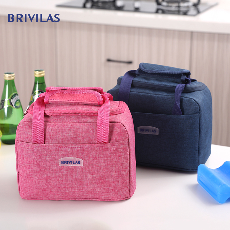 Brivilas Lunch Bag Waterproof Thermal Bag Oxford Fabric Portable Insulated Cation Picnic Food Box Women Tote Storage Ice Bags