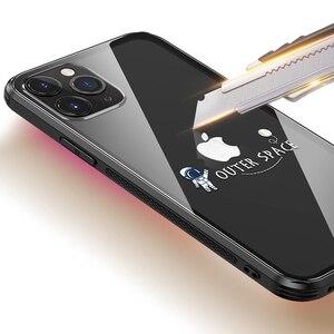 Image 3 - 強化ガラス電話ケース iphone 11 プロマックス 6.5 6.1 保護 transparant ケース iphone 11 pro のガラスシェルカバー