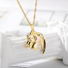 Модное женское ожерелье Очаровательное животное золотая цепочка