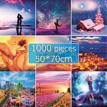 Jigsaw Puzzles 50*70 cm 1000 Pieces Puzzle Toys for Adults Children Assembling Picture Landscape Games Educational Toy