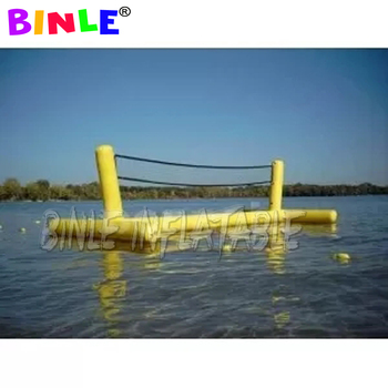 цена на Durable PVC Water Play floating Inflatable Beach Volleyball Court Swimming Pool Toy Volleyball Game Family Kids Fun Play