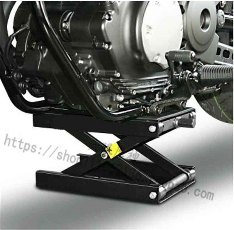 500KG Scissor Hoist Jack Lifting Cranes Motorcycle Repair Stand Center Scissor Lift Hoist Workshop Bench Lifting Tool(450*150mm)