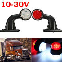 1x 10-30V LED Truck Trailer Lorry Van Side Marker Lamp Indicator Light Red White