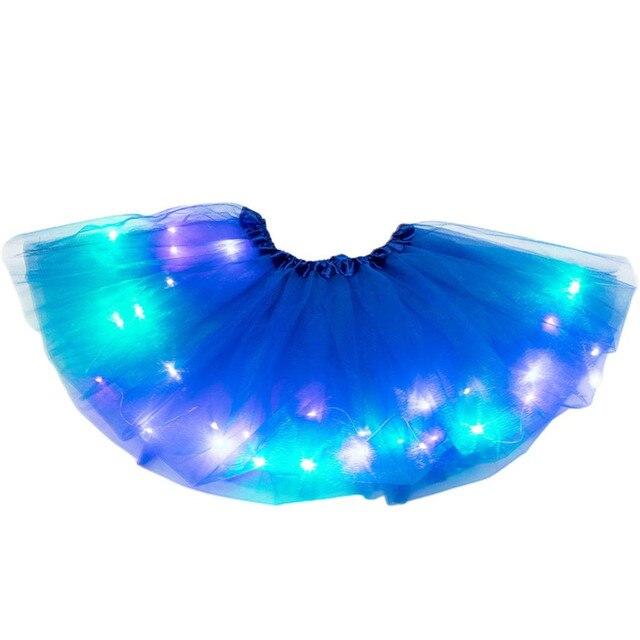 Kids Girls Baby Party Tutu Skirt Fancy Costume LED Light Up Pettiskirt Ballet AG