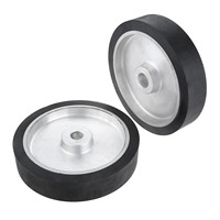 250*50mm Belt Grinder Rubber Contact Wheel Abrasive Sanding Belt Set Polishing Sanding Chamfering Grinding Rubber Wheel Tools