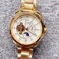 Мужские автоматические механические часы  полностью стальные водонепроницаемые светящиеся часы с турбийоном  мужские наручные часы для ма...