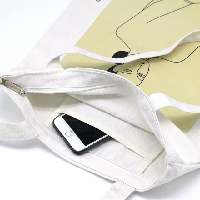 Youda Original Simple Women Bag Elegant Canvas Handbags Fashion Ladies Shoulder Bags Casual Shopping Tote Cute Girls Handbag 5