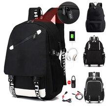 Dj sırt çantası keten sırt çantası USB şarj aleti öğrenci sırt çantası