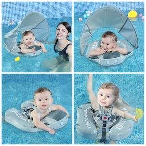 Image 3 - Flotador para pescar para bebés, juguetes de piscina tumbada, bañera para accesorios, entrenador de nado, sombrilla