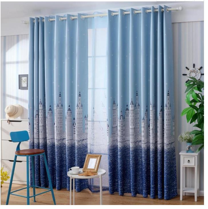 fresh flower curtains Blackout curtain Blackout curtain fabric modern living room bedroom window curtains thickened custom