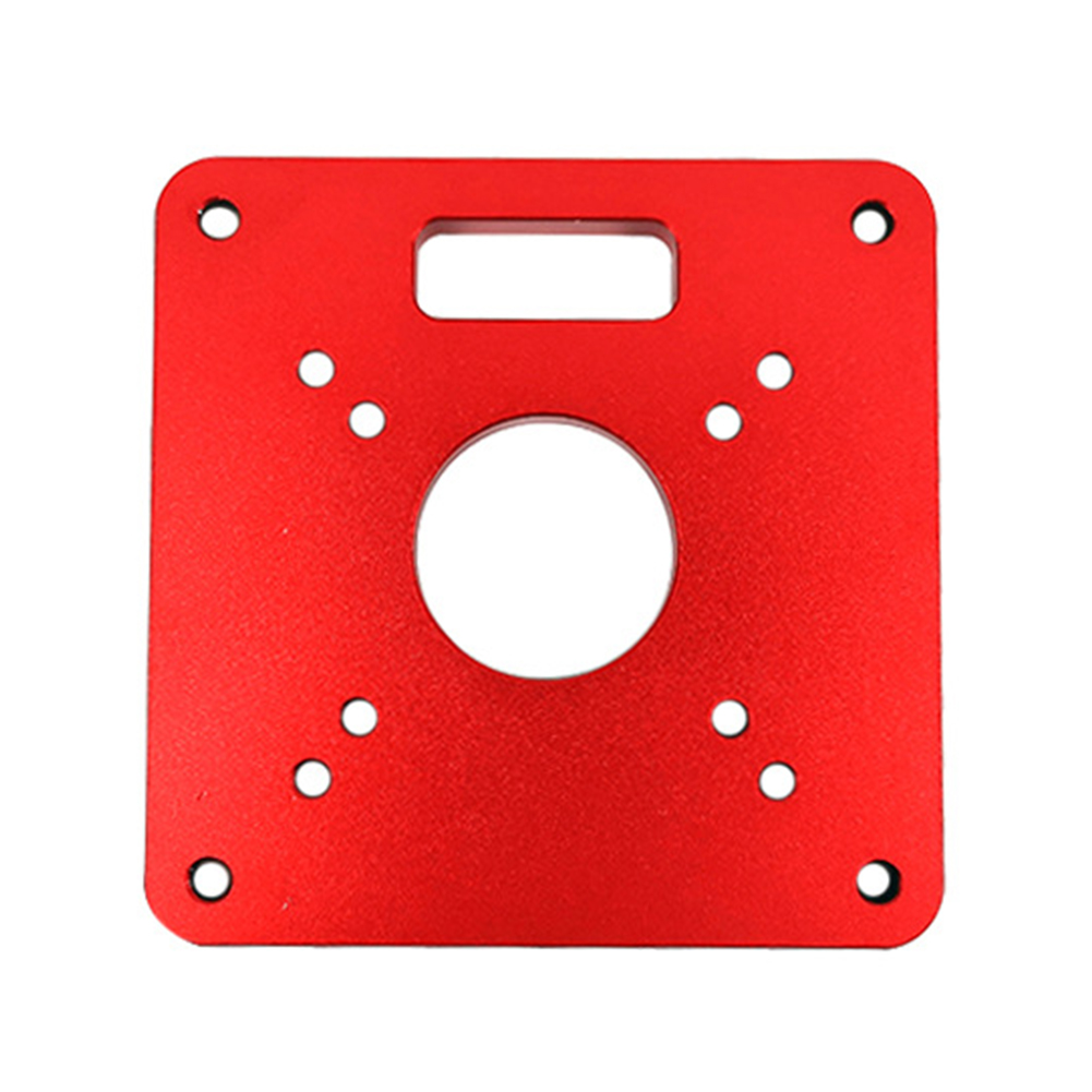 Practical Trimmer Models Router Table Insert Plate Red Accurate Engraving Accessories Parts Aluminium Woodworking Benches Tool