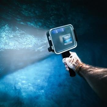 40Meter 900LM Underwater LED Video Light Replacement for GoPro Hero 7 6 5 Black Waterproof Diving Flash Lighting Fill in Lamp +