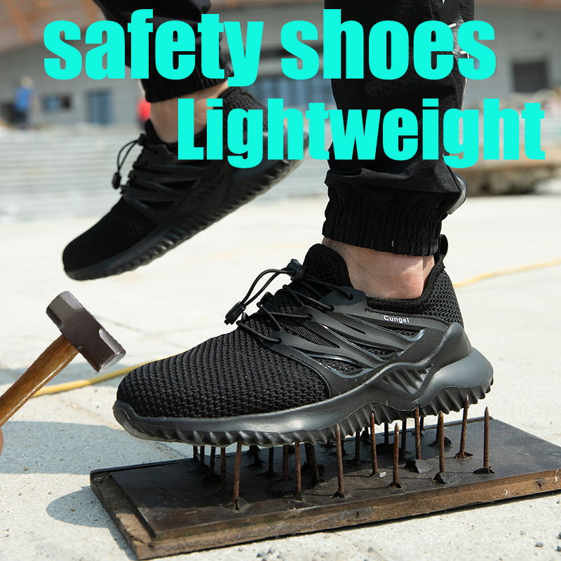 Dropshipping Indestructible Ryder Shoes Men And Women Steel Toe Air Safety Shoes Puncture-Proof Work Sneakers Lightweight Shoes