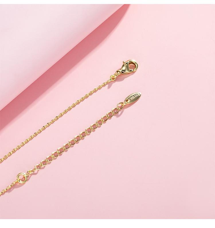 Купить 14k золотые ожерелья для женщин простое модное ожерелье подвеска