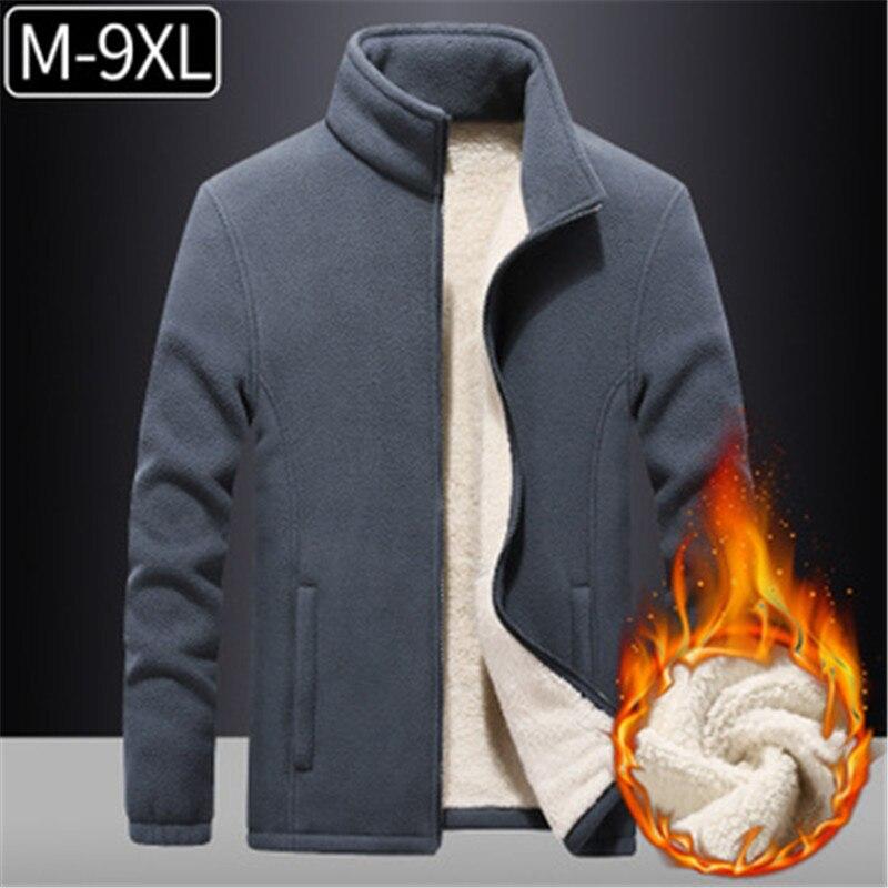 9XL Plus Size Fleece Jacket Coats Winter Warm Sport Clothing Outdoor Hiking Camping Mountain Jackets Fishing Skiing Snow Jackets