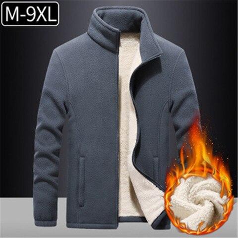 9xl plus size jaqueta de la casacos inverno quente roupas esportivas ao ar livre caminhadas