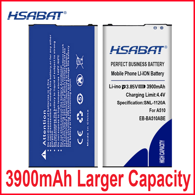 HSABAT 3900mAh EB-BA510ABE Battery for Samsung Galaxy 2016 Edition A510 SM-A510F A5100 A5 A51(China)