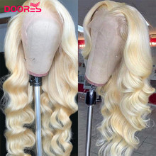 HD Transparent 613 Blonde Body Wave Lace Part Human Hair Wigs for Black Women Wave Blonde T Shaped Wigs Preplucked Brazilian Rem