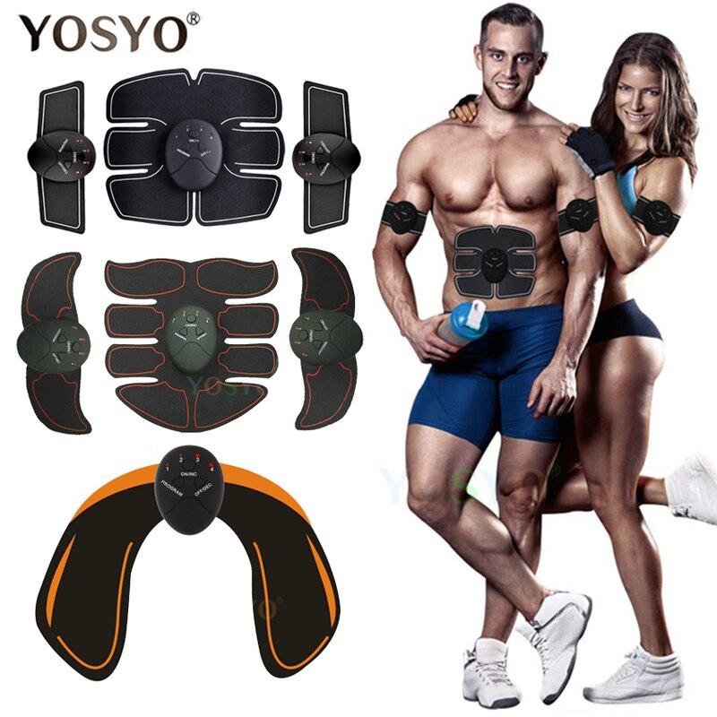 EMS Muscle Trainer Stimulation Fitness Massager ABS Stimulator Wireless Smart Abdominal Body Slim Buttocks WITHOUT RETAIL BOX