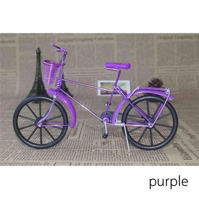 Antique Bike Model Metal Craft Home Decoration Vintage Bicycle Figurine Miniatures kids Gift Mini Creative Crafts 3