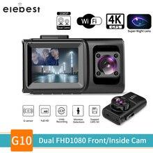ELEBEST Car camera Super Night WiFi GPS 1080P Front Inside Dual Lens Car DVR Sony Sensor Auto Dash Cam for Lyft Truck Taxi Uber цена 2017
