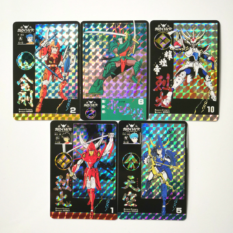 10pcs/set TOYCARD YoroiDen-Samurai Troopers Ronin Warriors Toys Hobbies Hobby Collectibles Game Collection Anime Cards