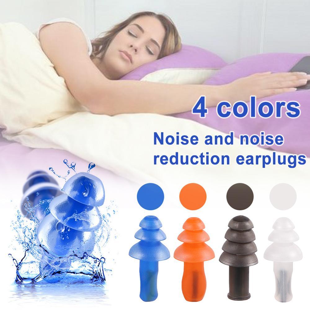 Tree-shape Spiral Waterproof Earplug Sleeping Travel Study Anti-noise Hearing Protection Noise Reduction Soft Silicone Ear Plugs