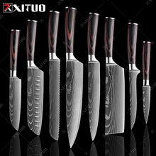 Xituo набор кухонных ножей 8 дюймов шеф повар японский 7cr17