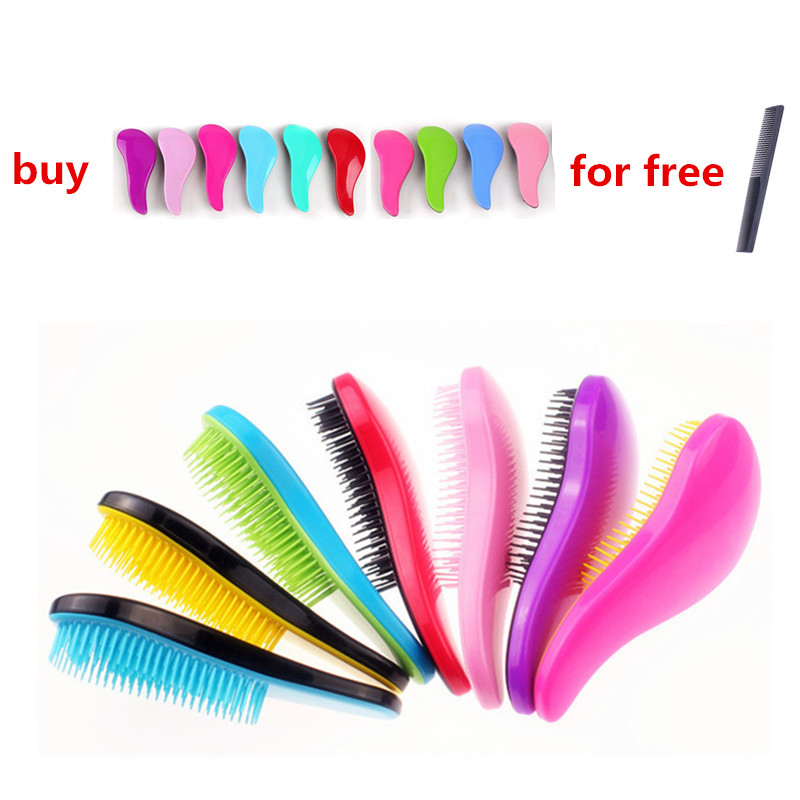 1 Pcs Magic Handle Comb Anti-static Massage Hair Brush Tangle Detangle Shower Massage Hair Brush Comb Salon Hair Styling Tool