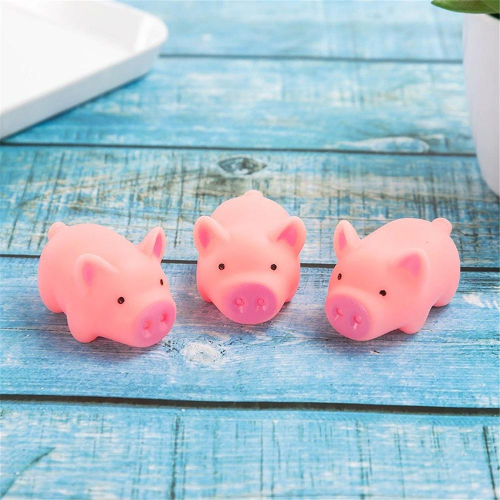 Decompression Vocal Toy Squeeze Pig Kawaii Animal Silicone Slow Rising Practical Jokes Fashion Cute Vent Model Toy For Kid Adult