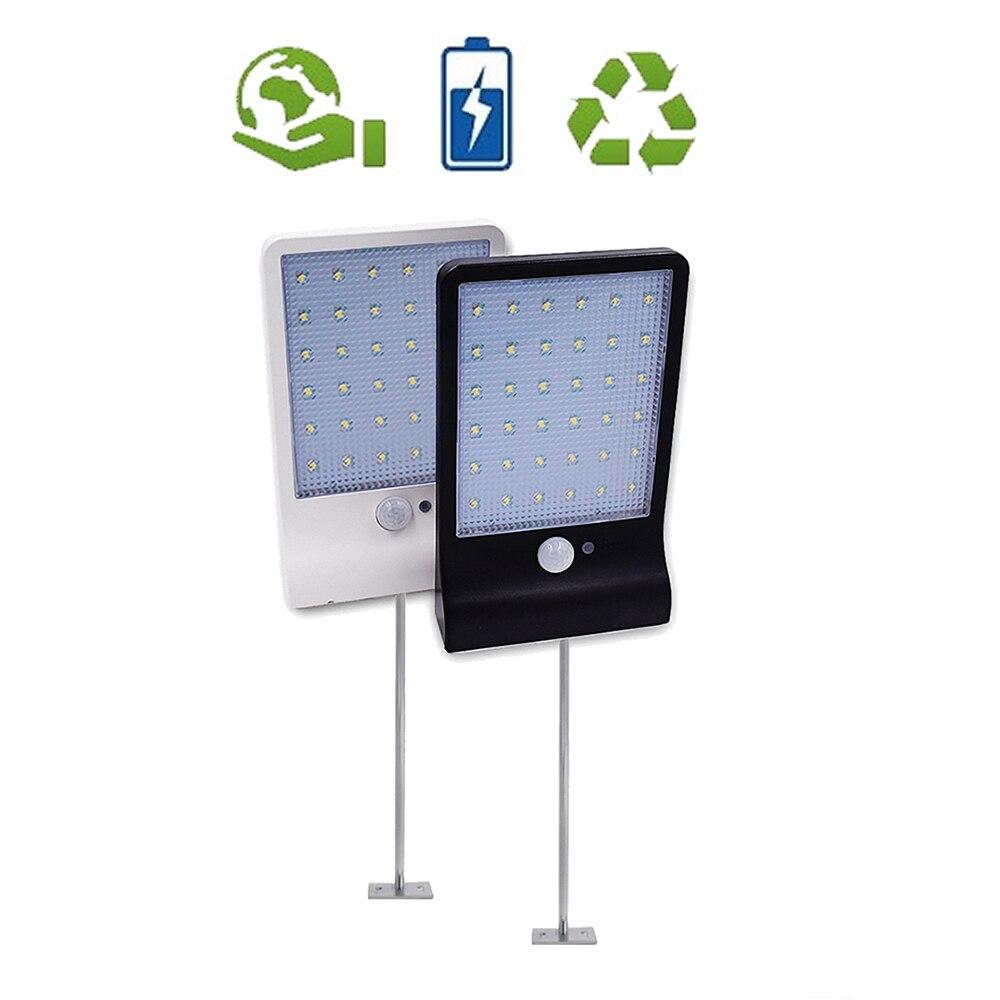 Metal Poles Outdoor 48 LED Solar Light Waterproof Auto PIR Motion Sensor Solar Wall Light Adjustable Solar Lamp For Garden Yard