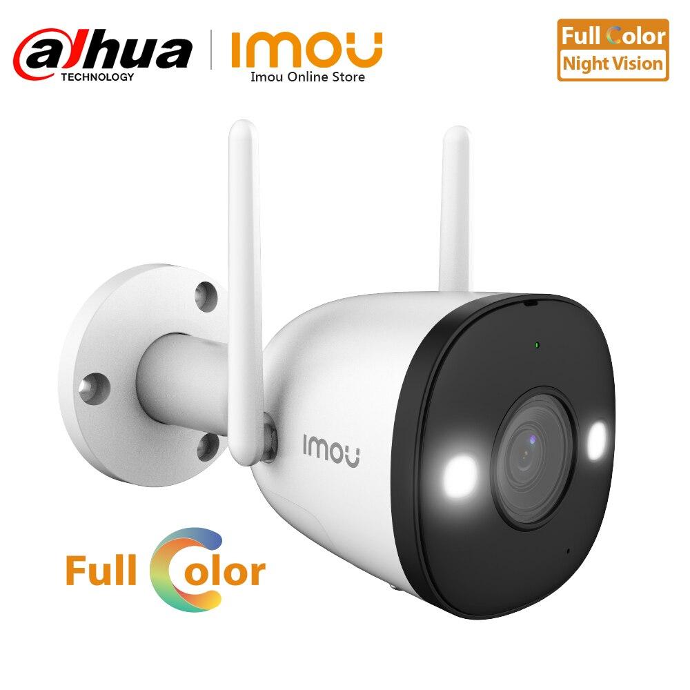 Dahua cámara IP Wifi a todo Color para exteriores, videocámara de vigilancia P2P con visión nocturna, foco incorporado, grabación de Audio, ONVIF, Modo AP suave|Cámaras de vigilancia|   -