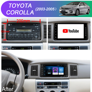Image 4 - 9 Inches 2din Android8.1 Car Radio Multimedia Player For Toyota Corolla E140/150 2008 2009 2010 2011 2012 2013 Stereo navigation