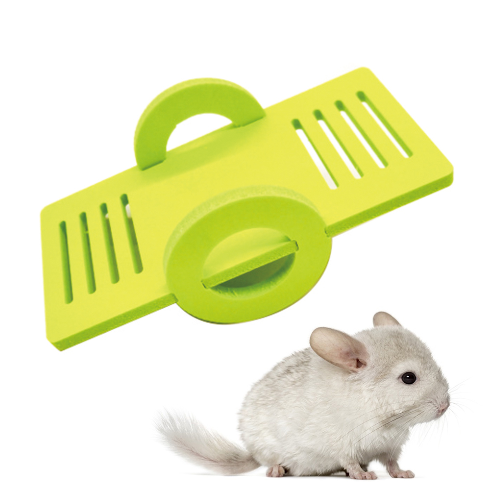 Wood Seesaw for font b Pet b font Hamster Funny Rat Mouse Chinchillas Guinea Pig Small