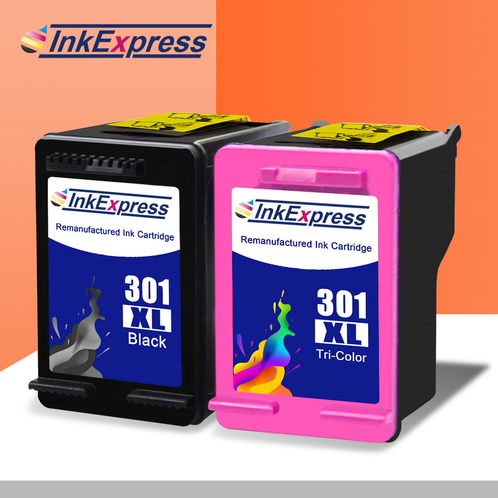 InkExpress 301XL Remanufactured Ink Cartridge For HP Deskjet 2000 2050 2545 2546 ENVY 4500 4505 OfficeJet 2620 2622 2623 Printer