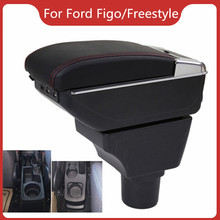 Car Armrest For Ford Figo/Freestyle/Endeavour Car Accessories Console Box Center Arm Rest With Cup Holder Ashtray Storage Box armrest for renault logan 2004 2019 car arm rest central console leather storage box ashtray accessories car styling