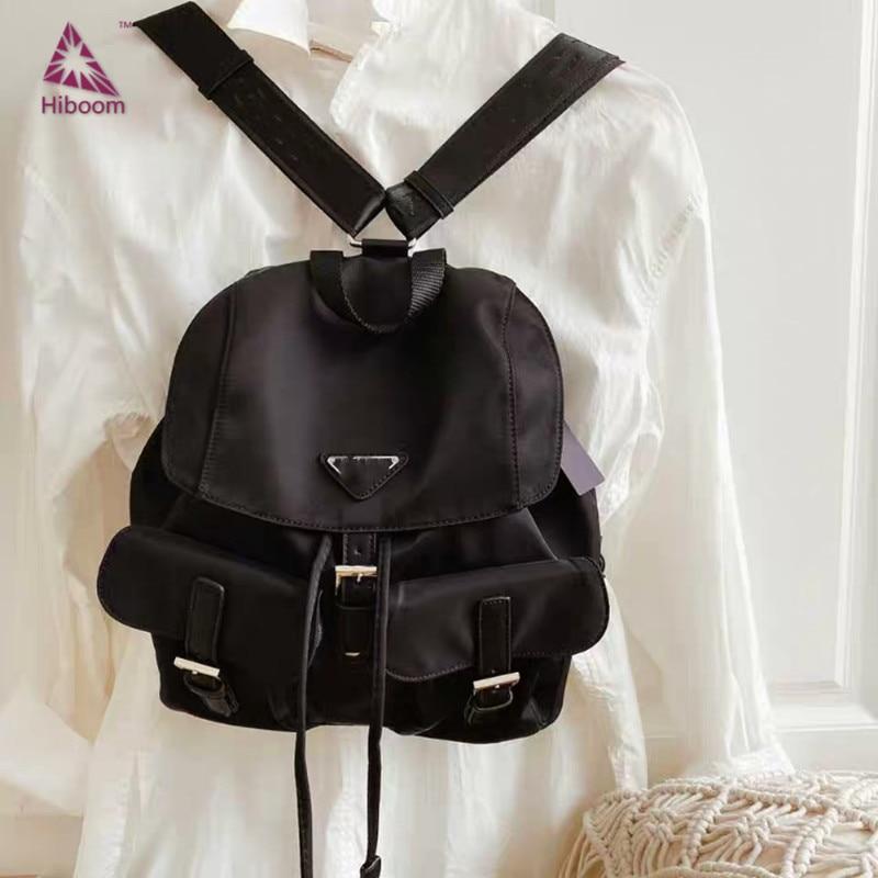 Hiboom New Fashion Nylon Bag Women's Bag Outside Women's Crossbody Bags Bucket Bag Lace Up String Bag Women Shoulder Bags