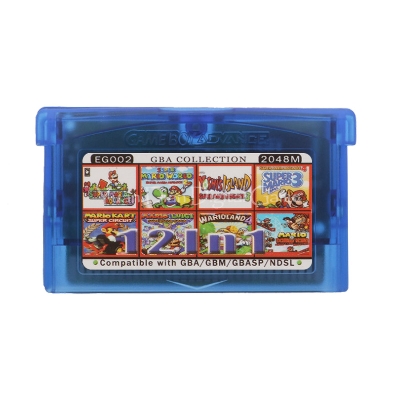 For Nintendo GBA Video Game Cartridge Console Card Collection English Language EG002 12 in 1