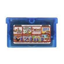 Per Nintendo GBA Cartuccia del Video Gioco Console di Raccolta Della Carta di Lingua Inglese EG002 12 in 1