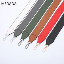MEDADA kobiet pasek na ramię do torby armatura czysty kolor pasek na ramię szerokość pasma pasek na ramię pojedynczy torba na ramię akcesoria tanie tanio Skóra Pasek torby 130g MD107 5 0cm 105cm