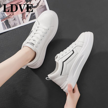 Casual Shoes Women Sneakers 2019 Fashion Rhinestone Platform White For Breathable PU Leather Tennis Female