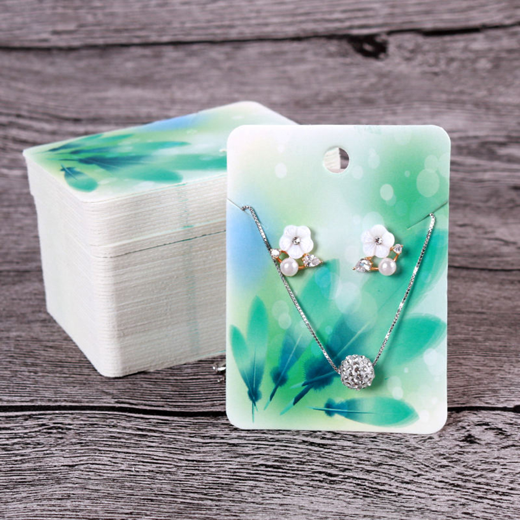 Handmade Packing Cards For Earring Stud Necklace Display, 100 PCS