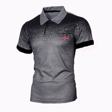 Polo shirt men's casual deer pure cotton polo shirt men's short-sleeved high-quantity flower shirt large size