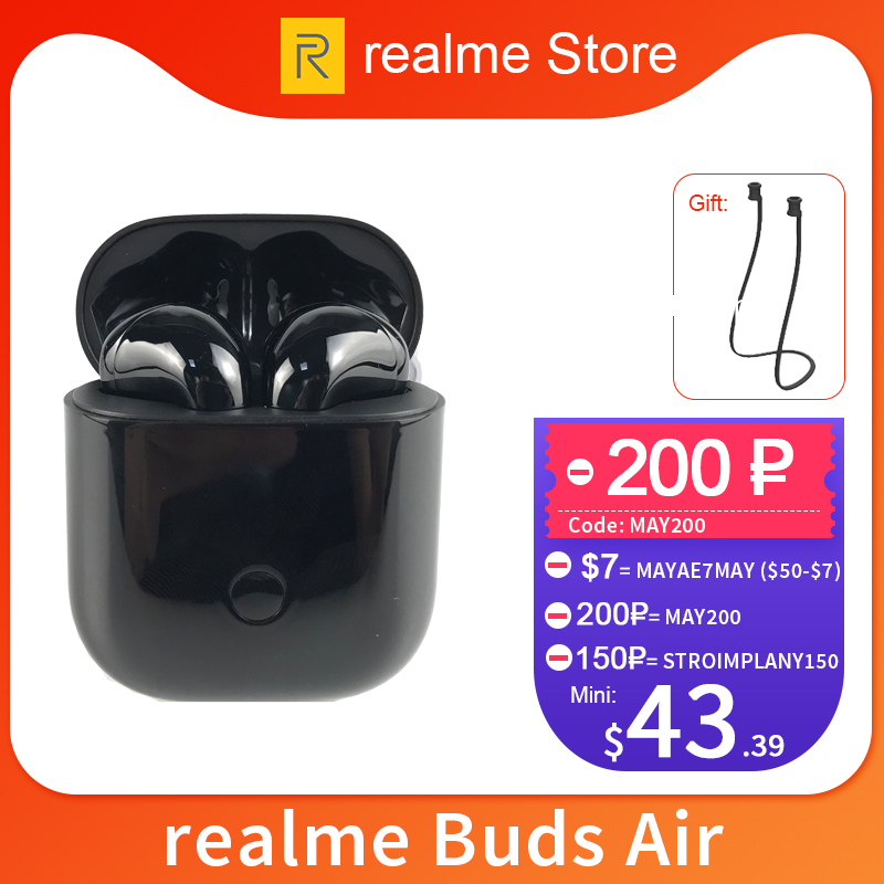 Gloabl Version Realme Buds Air Wireless Earphones True Wireless Charing R1 Chip Dual Mic For Realme X X2 Pro X50 Pro