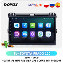 DOVOX Android 10 Für Toyota Land Cruiser Prado 120 Prado 3 2004-2009 Auto Radio Multimedia Video Player GPS navi RDS DSP 4G 2 Din