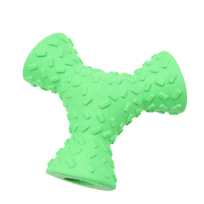 Trihedral dog missing food toy dog biting toy anti biting feeding pet toy grinding teeth cleaning teeth chewing dog biting