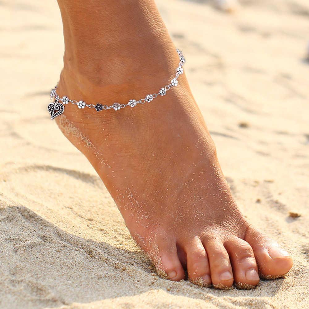 2019 เซ็กซี่ดีสร้อยข้อมือ Cheville รองเท้าแตะเท้ารองเท้าแตะเครื่องประดับขาเท้า Pulsera สำหรับผู้หญิงชายหาดฤดูร้อน