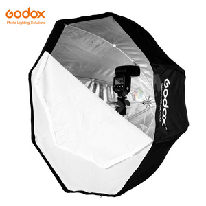 "Image 2 - Godox 휴대용 120cm 47 ""옥타곤 우산 소프트 박스, 허니 콤 그리드, 2.8m 라이트 스탠드, 플래시 스피드 라이트 용 홀더 브래킷"