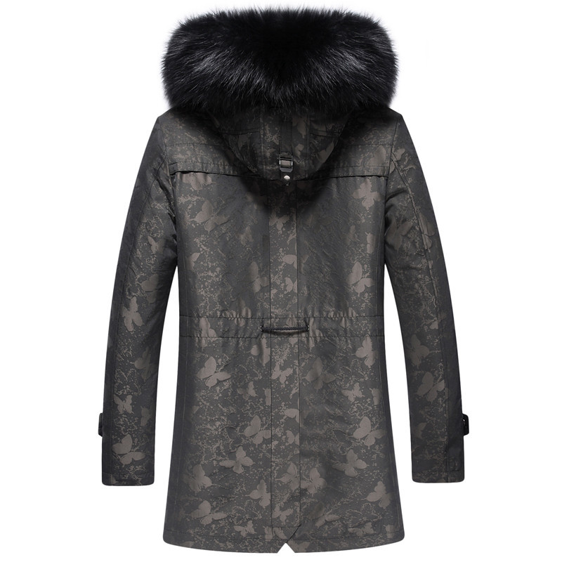 Liner Parka Winter Jacket Men Real Raccoon Collar Jackets Mink Fur Coat Plus Size SW81 YY263